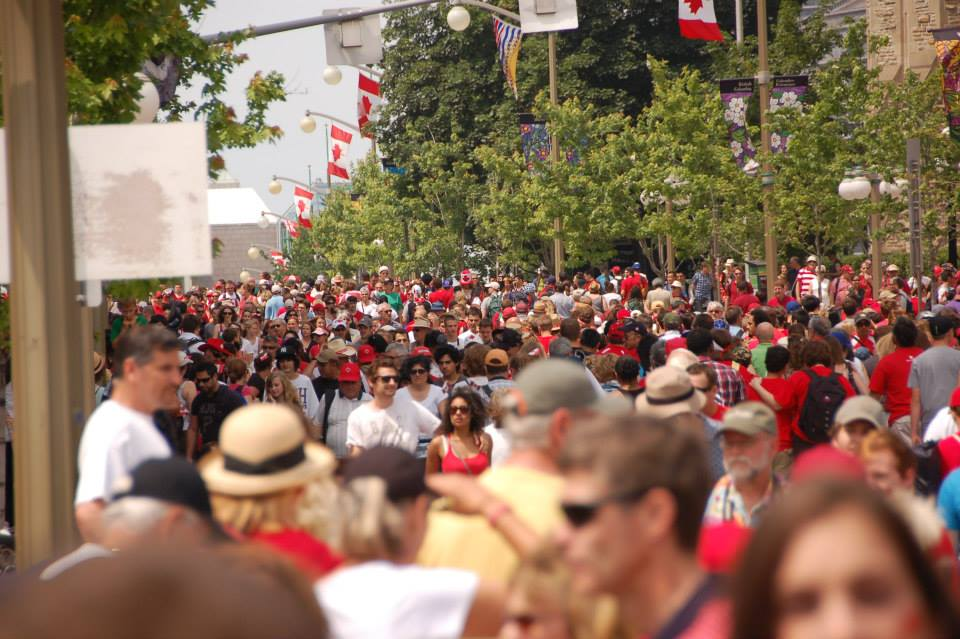 Downtown Ottawa, Canada Day 2013